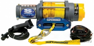 Лебедка электрическая для ATV Superwinch Terra45 с синтетическим тросом, изображение 1